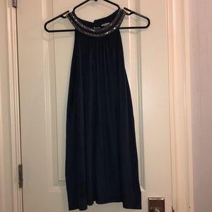 Dresses & Skirts - navy suede flow dress